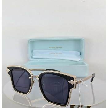 Karen Walker Rebellion Black/Gold Sunglasses