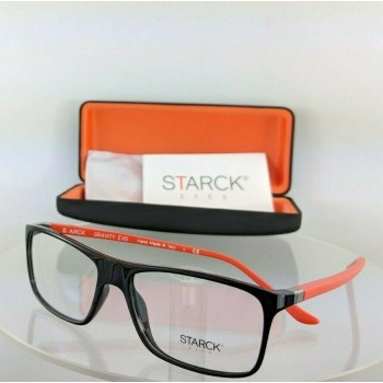 Starck Eyes Sh 1365 0025 Black Orange Eyeglasses