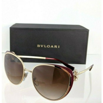 Bvlgari 6092-B 278/13 Gold & Burgundy Sunglasses