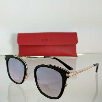 Guess GF 6063 01T Black & Gold Sunglasses
