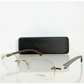 Gold And Wood S17.6-2425 Brown & Gold Eyeglasses