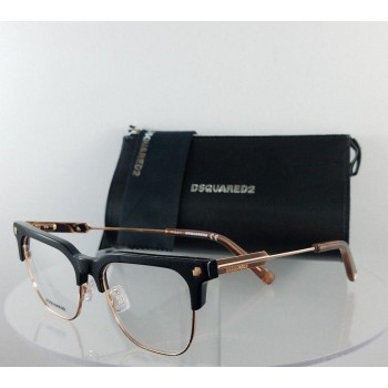 Dsquared 2 Dq 5243 A01 Black Rose Gold Eyeglasses