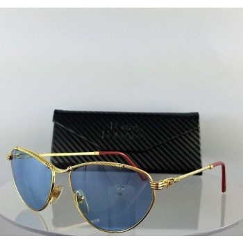 Porta Romana Mod.691 Gold Metal Blue Sunglasses