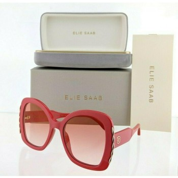 Elie Saab ES 030/S C9A30 Red & Gold Sunglasses