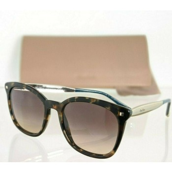 Maxmara MM NEEDLE III USGED Brown Tortoise & Silver Sunglasses