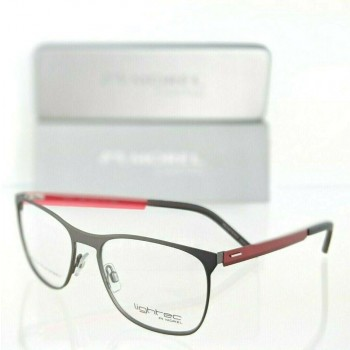 Lightec 8089L GR022 Red & Gray Eyeglasses