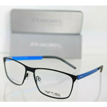 Lightec 8091L NB302 Blue/Black Eyeglasses